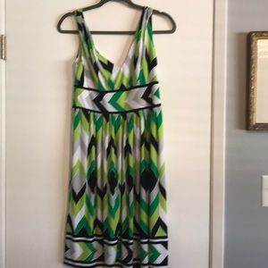 Gorgeous V-neck print sleeveless dress